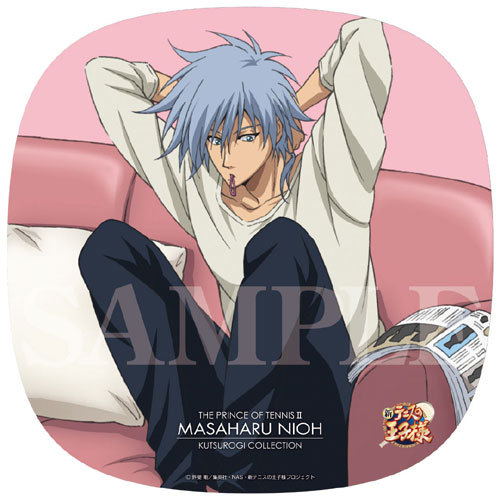 Masaharu Niou from Prince of Tennis. He has silver-grey hair.