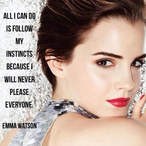 Emma with a quote