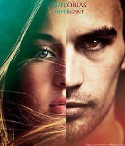 a fã art of Tris and Four,from Divergent that I found.I don't know who made ir,but it's very cool<3