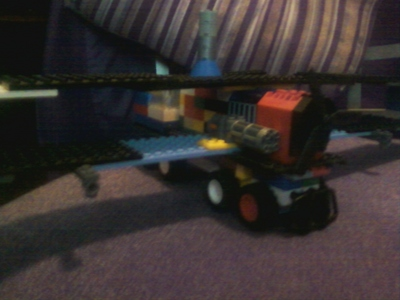 Just a lego steamplane with guns.