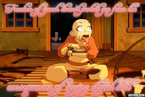 Jim C. Hines' words of wisdom and a picture of Aang.