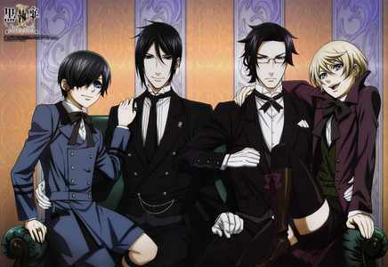 Either Ciel,Sebastian, Claude, of Alois from Black Butler X3 Mostly Ciel and/or Alois