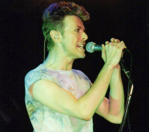 Bowie with veins