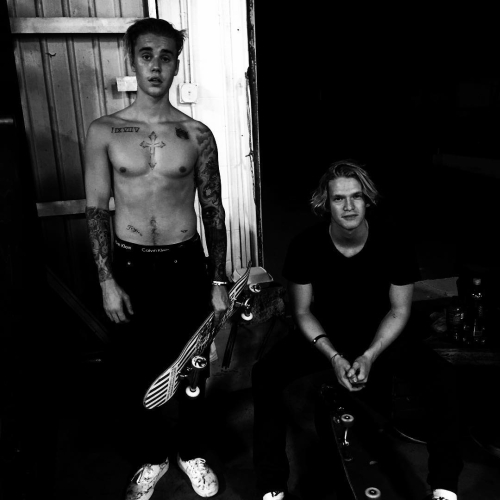 Justin with Cody Simpson