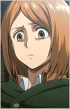 Petra Ral. She just irritates me so much ;-; Honestly what was her use anyway? All she did was have a fit with Eren and then died.