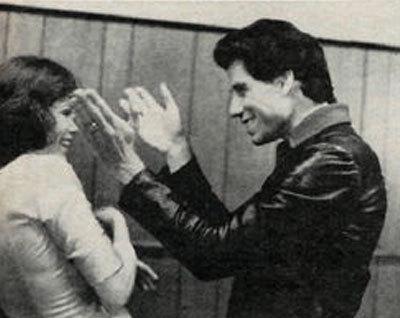 John smiling at Karen :)