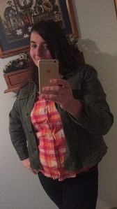 Genderbent Sam Winchester cosplay. I forgot the journal in this one, but I do have a John Winchester looking journal.
