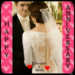 today is Edward and Bella's anniversary,so....Happy Anniversary to my fave fictional couple<3