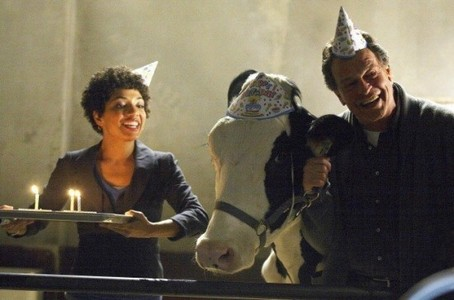Astrid, Gene (the cow) and Walter from 'Fringe'