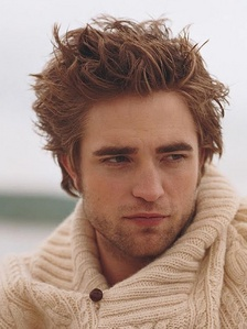 Pattinson's luscious brown locks<3