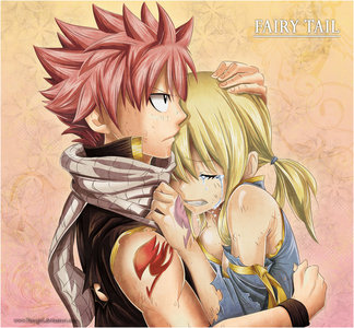 I think natsu and Lucy will get together because they have a bond that not even natsu and lissanna have and it is clear to me that that they care deeply for each other they just don't relies it yet  and natsu is so dense it will take awhile for him to relies that he loves Lucy. I am a fan of nalu if you cant already tell but i also like lissana to but not a fan of nali that much at all anyways lissana like him when they were younger sorry getting off topic anyways i heard that natsu and Lucy have a child named nashi is that true or false. bye bye for now