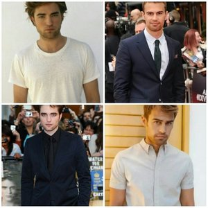 There are lots of things I'm very fond of,but the #1 thing I am deeply fond of(and by fond I mean LOVE) is my 2 fave British hotties,Robert Pattinson and Theo James<3