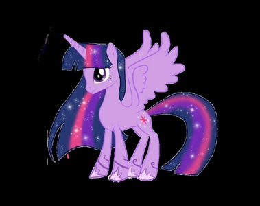 Name:Harmony Sparkle Age:18 Type:Alicorn Mane/Tail:Like Twilight's but it's smoother and different Farben Cutie Mark:A Peace Sign Works at Twilight's schloss with her Parents:Flash Sentry and Twilight Sparkle This is not the real picture yet