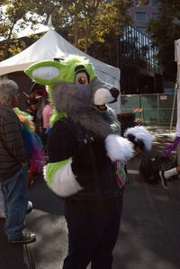 I cosplay and fursuit a lot thats about it at the moment Here's a foto of me in fursuit