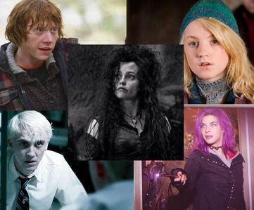 1; bellatrix 2; luna 3; ron 4; टॉंक्स 5; draco