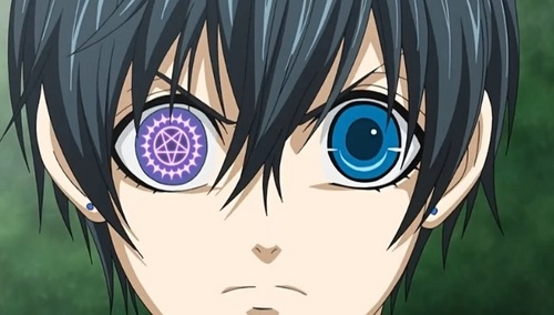 I would name my demon butler Sebastian, and i would have the mark on my right eye like Ciel.