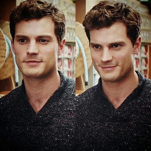 Jamie as Christian Grey with a sexy stare<3