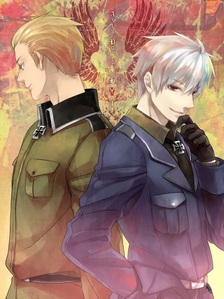 Prussia from Hetalia, big brother of Germany! He's awesome.