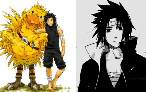Because they're so close when it comes to my all time favourite, I'll mention them both. Favourite anime character: Sasuke Uchiha Favourite video game character: Zack Fair They're my 2 ultimate favourites.