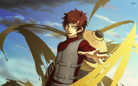 Definitely Gaara from Naruto/Shippuden ~<3 And so many others afterwards!