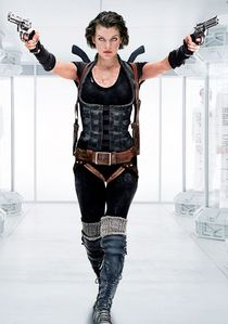 ALICE, MILLA JOVOVICH, FROM RESIDENT EVIL SHE IS 1 BADASS CHICK