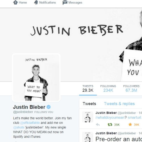 Justin Bieber followed me on twitter :')