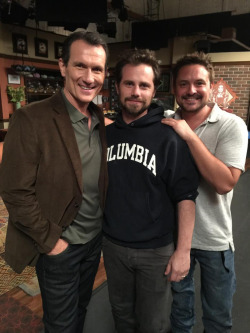 Rider with his 2 co-stars, Will Friedle and Antony Tyler Quinn :)