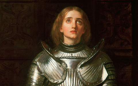 I'm not religious but I like Joan of Arc best, she's such a role model. I like other people too such as Leonardo da Vinci oder Albert Einstein.