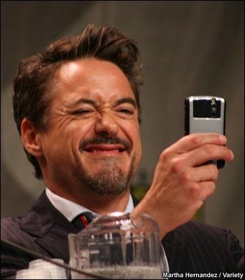 RDJ taking a selfie:)