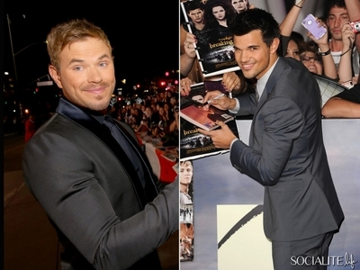 Kellan and Taylor...because they got to work Robert and Kristen<3