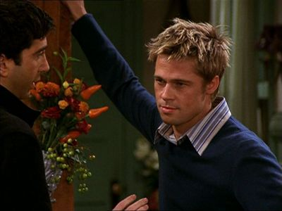 Brad guest starring on his then wife's show,Friends<3