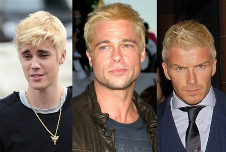Biebs,Brad and Beckham all with dyed hair:)
