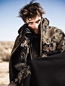 my babe wearing leather gloves from his Italian Vogue photoshoot<3