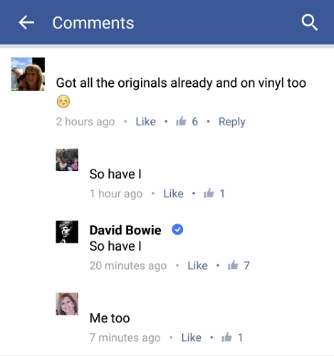 Bowie's Комментарий today on his outcoming LP Boxset