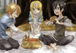 I finished it but im waiting for season 3 to come out late this year!!! Kirito is going to be playing a new game called Underworld Online here is a picture! There are 2 new main characters Eugeo and Alice she is a sword master but Eugeo is just a carpenter!