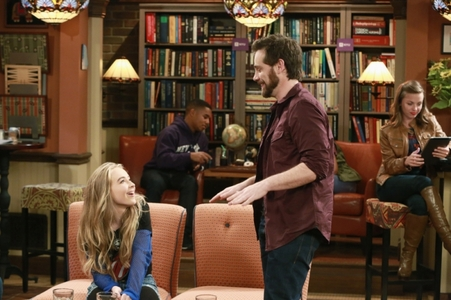 Rider smiling at a young girl, Sabrina in Girl Meets World :)