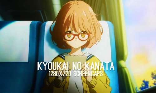 Kyoukai no Kanata because I'm not sure how many other kawaii little fluffballs of doom can look as kawaii hunting down senpai than Mirai. Seriously. That and so many people don't like it I just love loving it for the pretty animatie and kawaiiness.