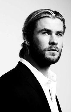 Mr.Hemsworth in b&w<3