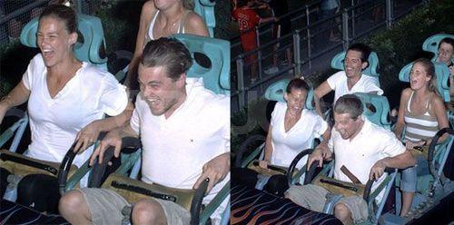 Leo having fun riding a roller coaster:)