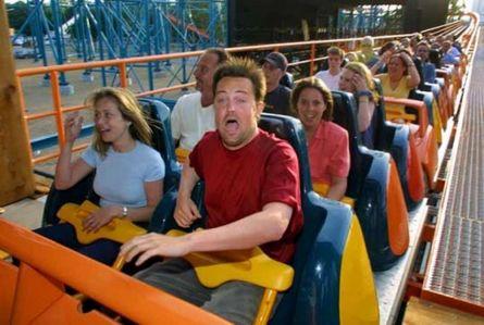 Matthew Perry having fun on a ride :)