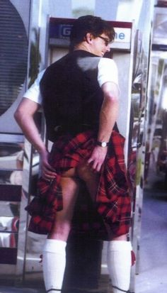 Barrowman doing it the right way with no clothing underneath ;)