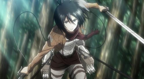 My name starts with M... Mikasa Ackerman