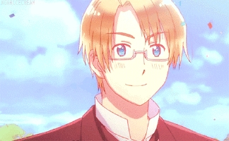 my name starts with an A. so Alfred aka America from Hetalia. we also have the same initials. ( AJ )
