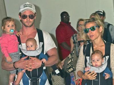 Chris with his wife and their 3 kids<3