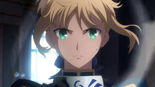 Saber fits me at the moment. My sister was freaked out about something and I told the info about berkata thing and I felt my face forming into this.