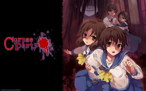 Hmm... Higurashi: When They Cry is pretty creepy, but it's madami suspense than anything. I mean, I highly recommend it if you're into psychological horror, but it's not SCARY per say. Corpse Party, on the other hand, is terrifying... as long as you don't laugh hysterically at the amount of gore. If you can take heavy gore seriously without being grossed out/find it ridiculous, then Corpse Party is scary as hell.