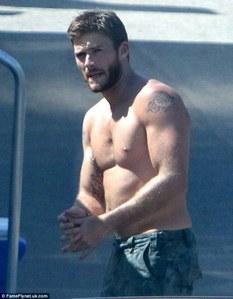 my shirtless hotty,Scott<3