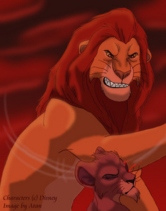 In a fight, yeah, but Scar was smarter. Anyway, from what I've read/heard, he was treated really badly in his childhood oleh his father and Mufasa. But there had to be a villain for a movie and Scar is just the one.