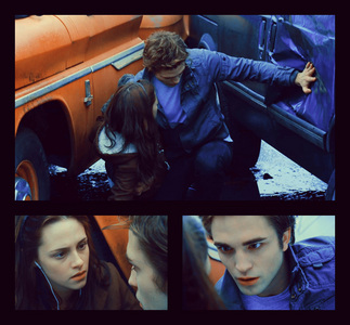 my strong babe pushing a car away with his hand in a scene from Twilight<3