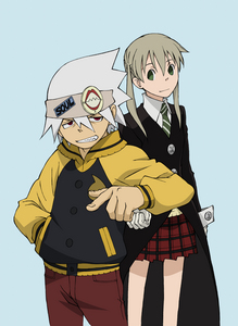 Soul and Maka from Soul Eater